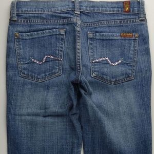7 For All Mankind Boot Cut 25 Women's Jeans C014P